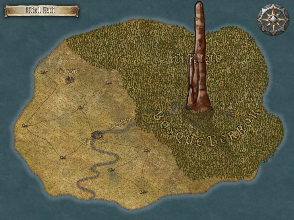 """Mapa de Hial Bri, reino del libro """"El Grupo Sombra"""""""
