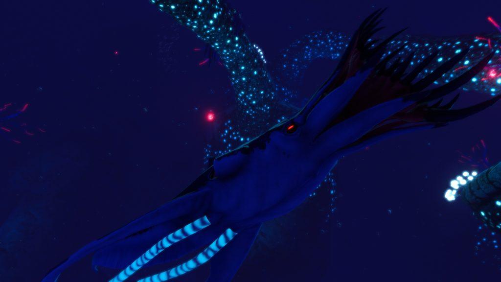 Tiburón Calamar Subnautica Below Zero