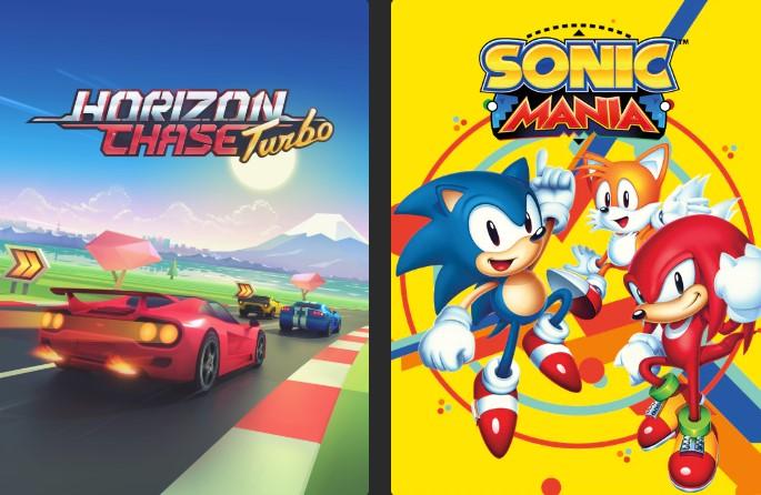 Portada Horizon Chase Turbo y Sonic Mania