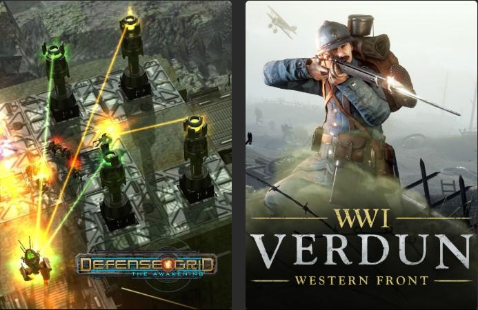 Defense Grid: The awakening y Verdun Gratis en Epic Games